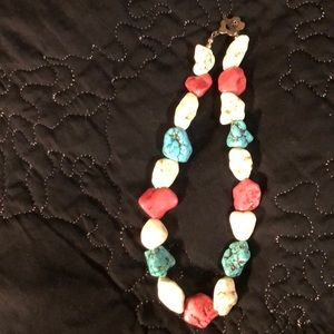 Jewelry - Pink, blue and white necklace